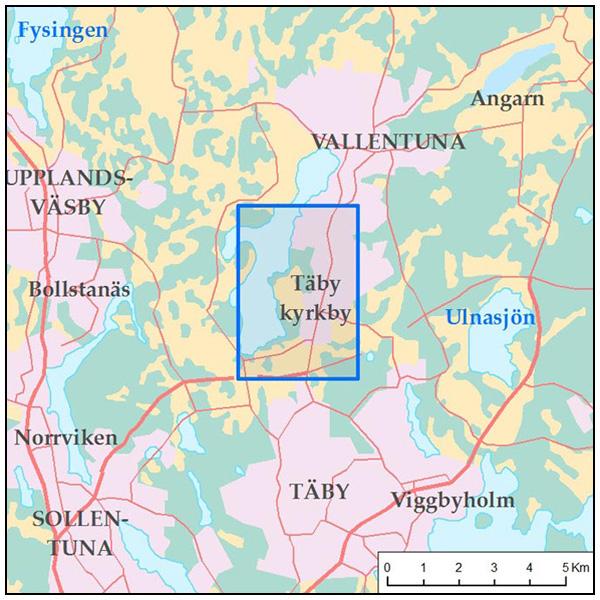 täby karta Karta för promenad kring Täby kyrkby | Rundslingor täby karta