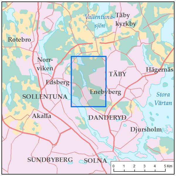 Karta For Promenad Vid Rosjon Sollentuna Taby Rundslingor